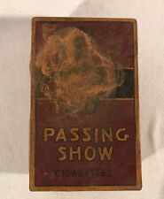 Vintage Passing Show English Cork Tipped Virginia Cigarette Litho Tin Box ~ Red