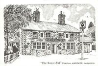 Art Sketch Postcard The Royal Oak Charlton Andover Hampshire Don Vincent AS1
