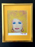 ANDY WARHOL + 1984 SIGNED DOLLY PARTON PRINT MATTED 11X14 + BUY IT NOW!