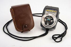 Gossen Lunasix Professional Light Meter with Case and Neck Strap TESTED V14