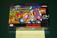 Super Bomberman 2 (Super Nintendo SNES) NEW SEALED FIRST PRINT NO-ESRB, RARE!