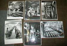BOFORS SWEDEN FACTORY PHOTOGRAPHS (6) 1951. GUN BARRELS, etc