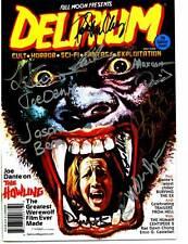 Delirium #7 magazine signed by Joe Dante, Belinda Balaski, Rae Dawn Chong + 9