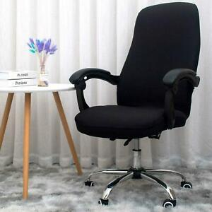 Melaluxe Office For Chair Cover Universal Stretch Desk Protector Cover Black