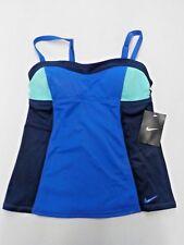 Women's Size Small Nike Blue/Green Color Block Tankini New Nwt #10389