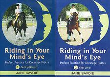 Riding in Your Mind's Eye Part 1 & 2 by Jane Savoie - Dressage Training DVD NEW
