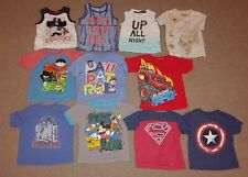 Spiderman, Paw Patrol Short Sleeved Tops Shirts Boys Toddlers Sz 2T Lot of 11