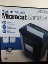 Royal Consumer 1005mc Micro Cut Paper Shredder 10 Sheet Black Max Security