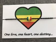 Jamaican Bracelet , Rasta Bracelet. Reggae Cord Bracelet Bob Marley Bracelet