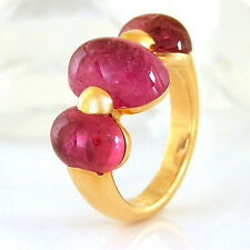 Ring in 750/- Rotgold mit 3 pink rosa rot Turmalinen 11,81 ct.  NEU Gr. 57