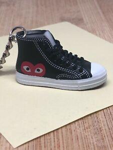 New Mini 3D CONVERSE Comme Des Garcons Chuck Taylor sneaker shoe keychain black