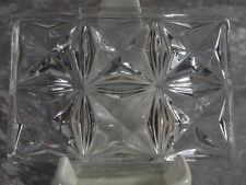 Glashütte Kristallglas schwere Butterplatte Teller Tablett 15 x 11 cm Beilage