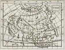 1773 L'Asie - Carte géographique ancienne, très rare. Gravure