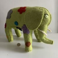 Hand Made Large Felt Elephant By Trixie Pixie In Nice Condition Flowers
