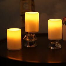 "3pack Home Impressions 3X4"" Flameless Plastic Pillar Led Candle Light With Timer"