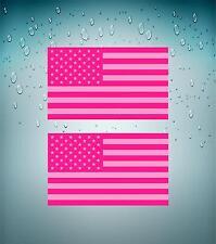 2x Sticker decal flag usa american car bumper pink united states american moto