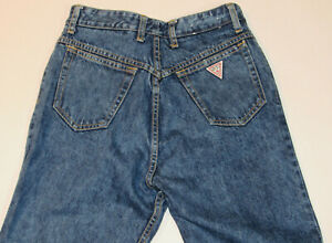 VINTAGE GUESS BY GEORGES MARCIANO DENIM BLUE JEANS! 1015! ANKLE ZIPPERS! USA! 32