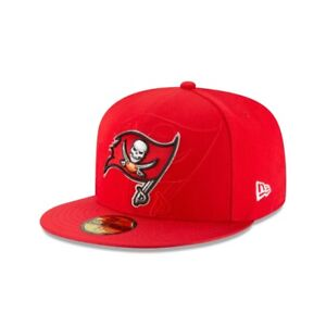 "Tampa Bay Buccaneers New Era NFL ""Shadow Logo"" Sideline 59FIFTY Fitted Hat-Red"