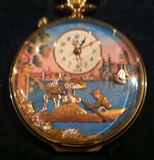 Reuge Music Rare Mechanical Moving Face Musical Pocket Watch