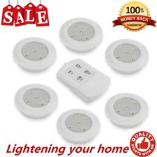 6PCS LED Wireless Kitchen Counter Under Cabinet Closets Lighting Puck Light  MY