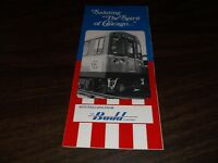 1981 CTA BUDD SPIRIT OF CHICAGO RAILCARS BROCHURE