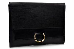Authentic Louis Vuitton Epi Iena 32 Clutch Bag Black LV 92274