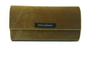 DOLCE & GABBANA Velvet Green/Gold Velvet eye/Sunglass Case