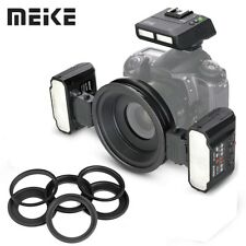NEW Meike MK-MT24 Macro Twin Lite Flash with Trigger for Nikon DSLR Cameras