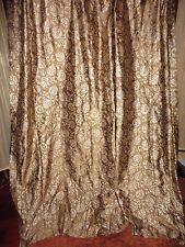 SETHI GILDED PAISLEY BRONZE THISTLES FLOWERS FABRIC SHOWER CURTAIN