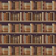 1:12 Scale Dolls House Traditional Bookcase Wallpaper (60cm x 43cm) A2 Size 596