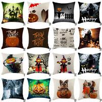 Halloween Pumpkin Pillow Cover Pillowcases Decorative Sofa Cushion Cover