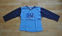 * Jungen Langarmshirt X10 146-152 Farbe: Hell-Dunkelblau T-Shirt lang