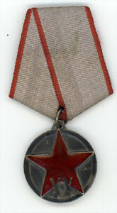 Russia Russian USSR - XX Years Red Army RKKA Medal RARE Type-2. Silver Enamel
