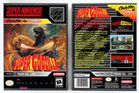 Super Godzilla - Super Nintendo SNES Custom Case *NO GAME*