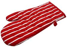 Single Oven Gloves (mitts) in a Butchers Stripe Design, 7 Colours Good Quality