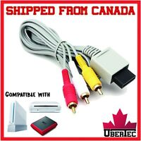 RCA Cable For Nintendo Wii Wii Mini Wii U Cord Audio Video AV Composite WiiU