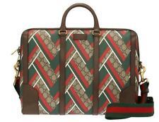 New Gucci Supreme Leather Guccissima Gg Chevron Web Logo  Shoulder Bag Men