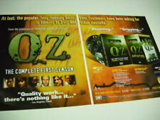 OZ long running series is cming DVD and VIDEOCASSETTE 2-pc. 2002 PROMO POSTER AD
