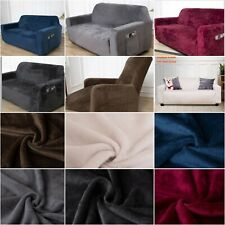 UK Sofa Covers Plush Velvet Fit Stretch Protector Soft Couch Cover With Tuckers