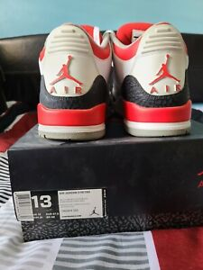 nike air jordan 3 retro size 13 in box