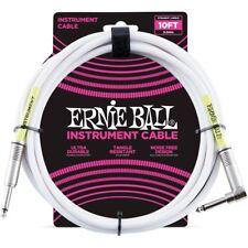 Ernie Ball 6049 Cavo per Strumenti bianco 3 mt