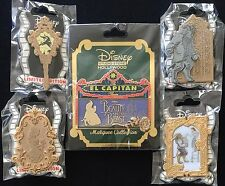 DISNEY DSF BEAUTY & THE BEAST GRAND PIN EVENT SET MARQUEE SHATTERED MIRROR 5 PC.