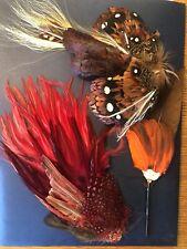 Vintage Lot Antique Victorian Eduardian Millinery Feathers