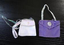 Barbie Doll Purses Purple Velvety Shiny Iridescent Handbag Accessories Totes