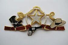 "#2355 7-1/2"" Cowboy,Gun,Hat,Boots,Star Embroidery Applique Patch"
