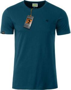 JAN 8008 Bio Baumwolle Basic T-Shirt COMPANIEER Petrol Blau Organic Herren ...