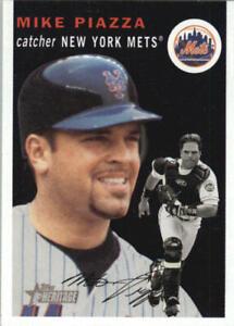 Mike Piazza 2003 Heritage Black #150 #150b SP New York Mets BX H1C-150