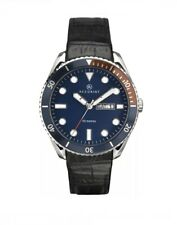 Accurist Original Mens Blue Dial Black Leather Strap Watch 7225  New With Box