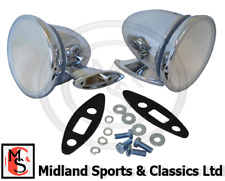 GAM105-2 - CHROME BULLET/ RACING TORPEDO WING DOOR MIRROR PAIR CLASSIC CAR