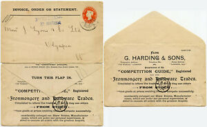 GB 1894 STO STATIONERY HARDING to J LYONS OLYMPIA EXHIBITION...COMPETITION ENV